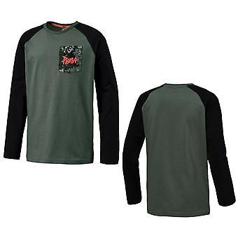 Puma Boys Стиль Raglan Длинный рукав Топ Дети футболка Хаки 851885 23 RW37