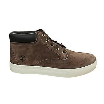 Timberland Dauset Chukka Leather Mens Boots Lace Up Ankle Shoes Brown A15ZR B56D