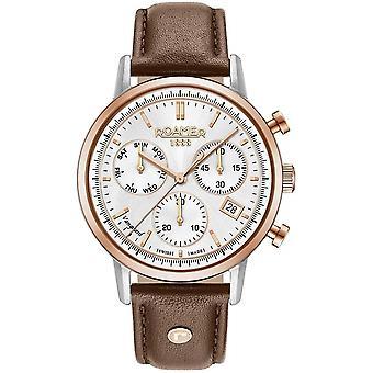 Roamer 975819 49 15 09 Vanguard Chronograph II Brown Wristwatch