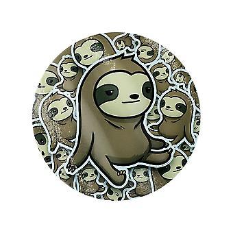 Grindstore Cute Sloth Jumble Round Chopping Board