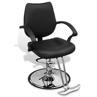 Professional hairdresser's chair faux leather black