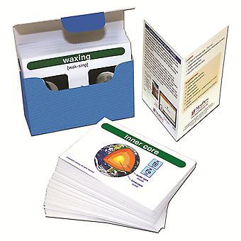 Conjunto de tarjetas Flash del Constructor de Vocabulario de ciencias de la Tierra, Escuela Secundaria