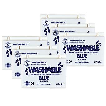 Washable Stamp Pad, Blue, Pack Of 6