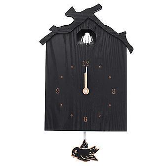 Antieke muur koekoeksklok zwart diy huis kerstvakantie cadeau presenteert retro minimalistische creatieve slinger