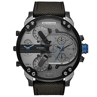 Diesel DZ7420 Mr. Daddy 2.0 Kronografi Musta ja harmaa silikoni Men's Watch