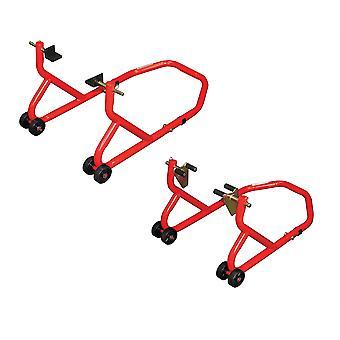 BikeTek Serie 3 For- og bagbane paddock ståsæt - rød