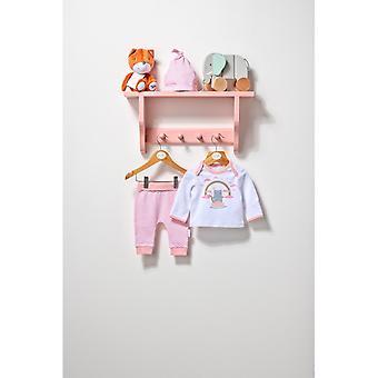 Essential One Baby Girl Fairy Cat Tee, Legginsy Footie & Beanie Set