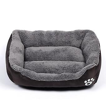 Gatto domestico, cane, letto, casa calda accogliente, nido di pile morbido, tappetino cestini, autunno,