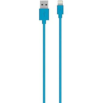 Cable Lightning de iPhone certificado por MFi MFi para iPhone XS, XS Max, XR, X, 8/8 Plus y más (4ft/1.2m) - Azul
