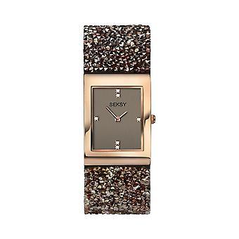 Seksy Rocks® Ladies' 2580 Bronze Swarovski Crystal Bracelet Watch