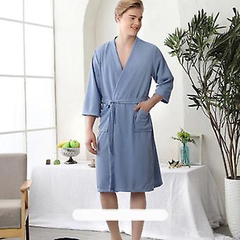 Extra Long Robe Cotton Bathrobes Sleepwear Nightgowns Sleeved Peignoir