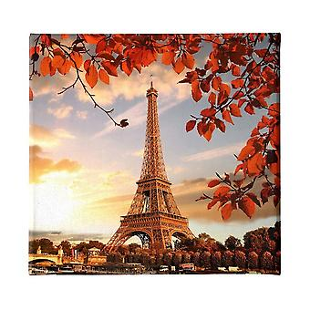 Bunte Eiffelturm-Platte aus Polyester, Holz, L60xP3xA60 cm