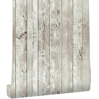 Haokhome Reclaimed Wood Distressed Wood Panel Peel And Stick Wallpaper