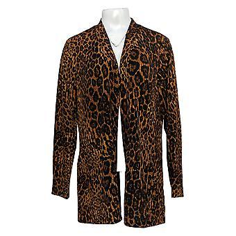Susan Graver Kvinder 's Sweater Trykt Nyhed Strik Cardigan A300529