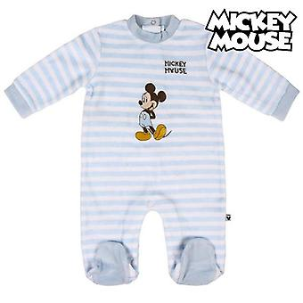 Baby's long-sleeved romper suit mickey mouse grey white