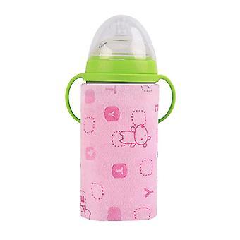 Usb bärbar mjölk resekopp varmare värmare spädbarn utfodring flaska väska lagring