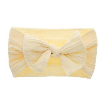 Baby Big Bow Soft Nylon Headbands Flower Print Nylon Turban Hairband Oversize