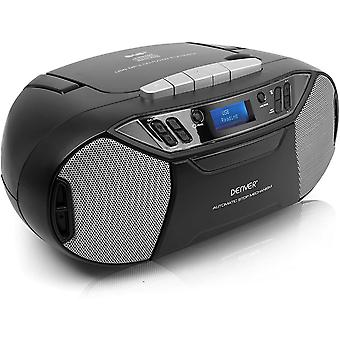 DZK TDC-250 Portable Digital DAB/DAB+/FM Radio With CD & Cassette Player, USB, AUX IN, Clock