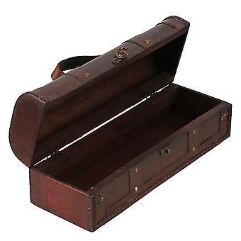 Caixa de armazenamento da caixa de armazenamento da caixa de armazenamento do suporte de vinho vintage de madeira em estilo retrô europeu