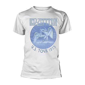 Led Zeppelin Tour 75 Blue Wash Official Tee T-Shirt Unisex