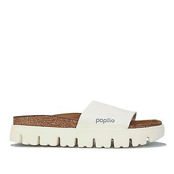 Women's Papillio Cora Chunky Slide Sandals Narrow Width in White