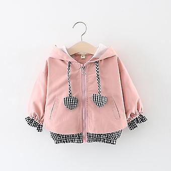 Winter Stitching Lattice Back Love Clothes' Coats Hooded