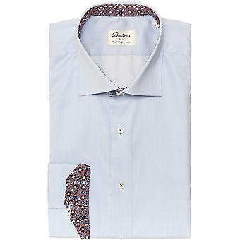 Stenstroms Slimline Floral Trim Pinstripe Shirt