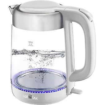 DZK Glass Electric Kettle, 1.7L Water Kettle with Blue LED Illuminated, Fast Boil Tea Water Kettle,