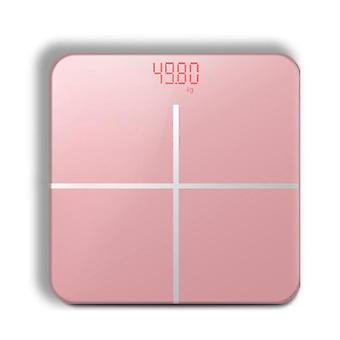 Bathroom Body  Scale LCD USB Charging(Pink)