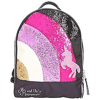 Depesche 10510 - Backpack with glitter, Ylvi and minimoomis, ca. 10 x 22 x 27.5 cm, color: Anthracite