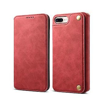 Slot per carte custodia in pelle portafoglio per iphone xr rosso pc3277