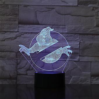 Ghostbusters 3d أدى ليلة ضوء غرفة نوم مصباح مصباح تغيير اللون