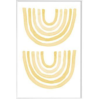 JUNIQE Print - Yellow Rainbow - Nursery & Art for Kids Poster in Yellow & White