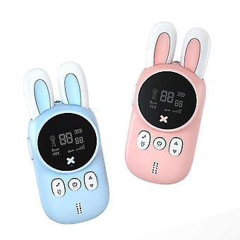 Blå och rosa trådlösa barn walkie talkies ljudöverföring interaktiva leksaker cai1477