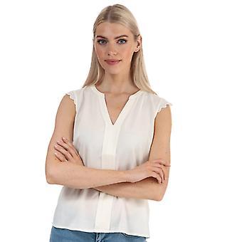 Women's Vero Moda Nads Sleeveless Lace Trim Top in White