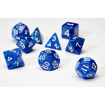 Sirius Dice - Pearl Blue Poly Set