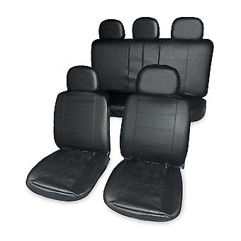 Streetwize Leather Look Headrest Covers Black