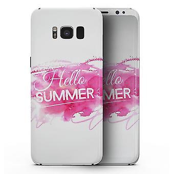 Vivid Pink Hello Summer - Samsung Galaxy S8 Full-body Skin Kit