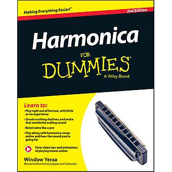 Harmonica for Dummies Book  Online Video  Audio Instruction 2nd Edition by Yerxa & Winslow