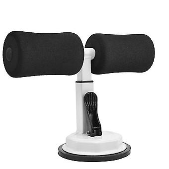 Home Sit-up fitness equipment, sucker-type abdomen Exercise tool(White And Black)