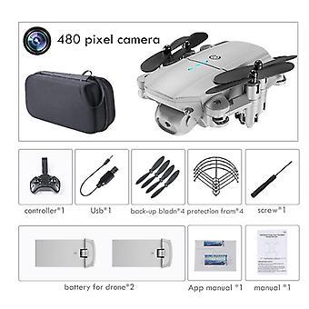Mini Drone 4k 1080p Hd Dual Cameras Wifi Air Pressure Altitude Hold Black And
