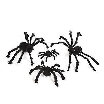 Halloween decoraties gigantische spin griezelig realistische spin voor buiten (50cm)