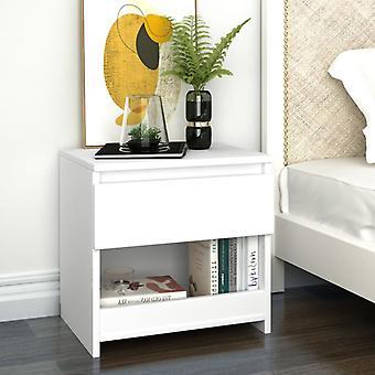 vidaXL السرير الجدول الأبيض 40x30x39 سم تشيببورد
