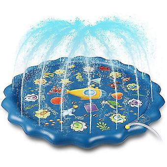 Splash Pad, 170cm Sprinkler Play Matte, Wasserspielzeug Spielmatte Sommer Wasser Spielzeug