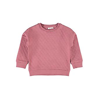Name-it Girls Sweater Lotte Boxy Quilt Oneck Deco Rose