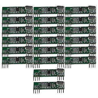 Remote controls 433mhz superheterodyne rf wireless receiver module kit green dc3v-5.5v set of 20