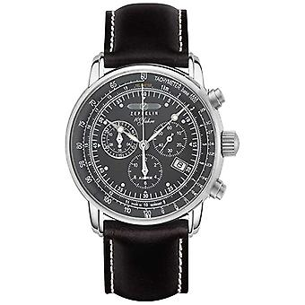 Zeppelin   Series 100 Years   Chronograph Date   Black Leather Strap 7680-2 Watch