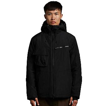 Lyle & Scott Casuals Wadded Dual Pocket Jacket with Face Guard - Black