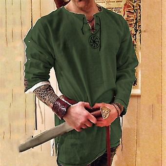 Cosplay medieval costume tunic halloween costumes for men adult viking pirate disguise fancy clothing carnival shirts