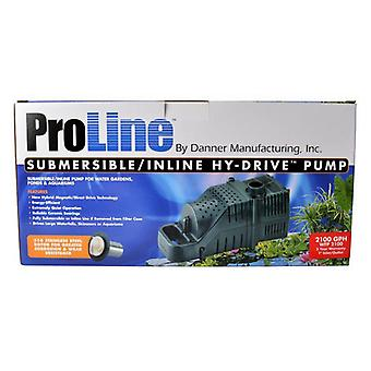 Pondmaster ProLine Submersible/Inline Hy-Drive Pump - 2100 GPH with 20' Cord